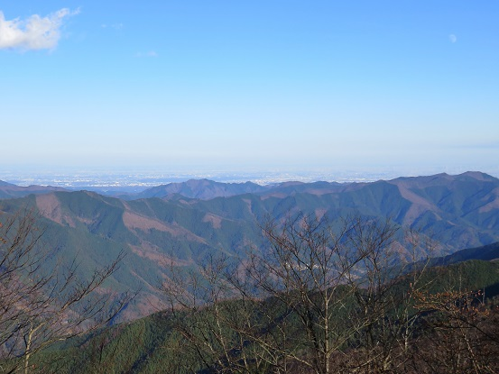 権現山から下山