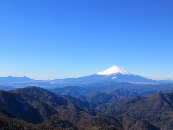 丹沢山富士山