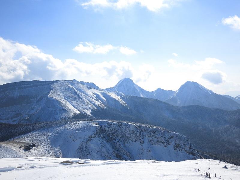 天狗岳からの新雪八ヶ岳