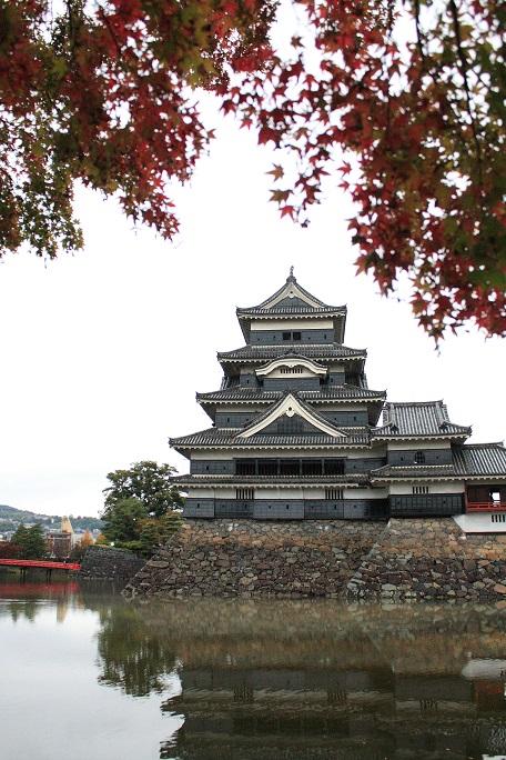 >松本城のお堀