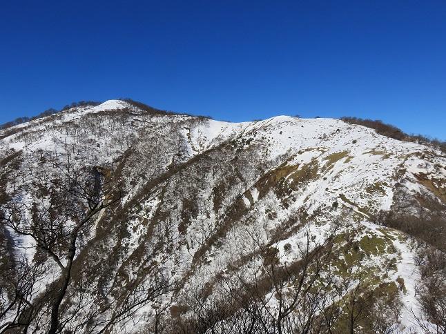 不動ノ峰への登り