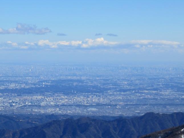 蛭ヶ岳から新宿方面