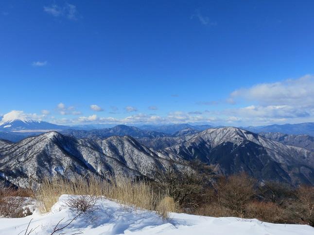 檜洞丸から続く大室山への稜線