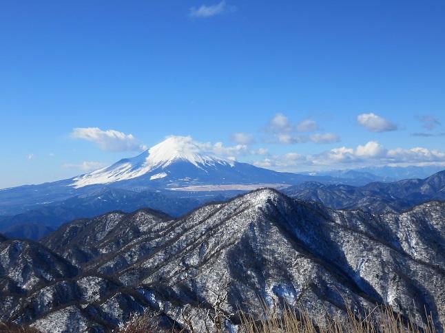 蛭ヶ岳丹沢山塊景色