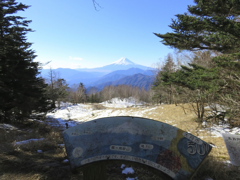 山梨百名山・富嶽12景の雁ヶ腹摺山