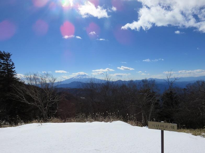冬季の南大菩薩富士山眺望