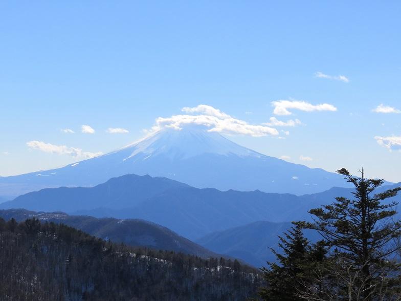 富嶽十二景牛奥ノ雁ヶ腹摺山の富士山景色