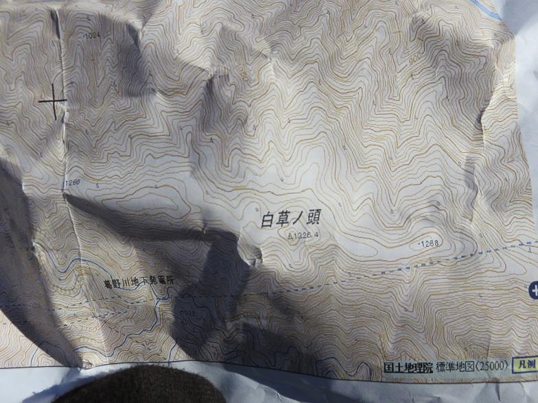 長峰~白草ノ頭は分かりやすい尾根道