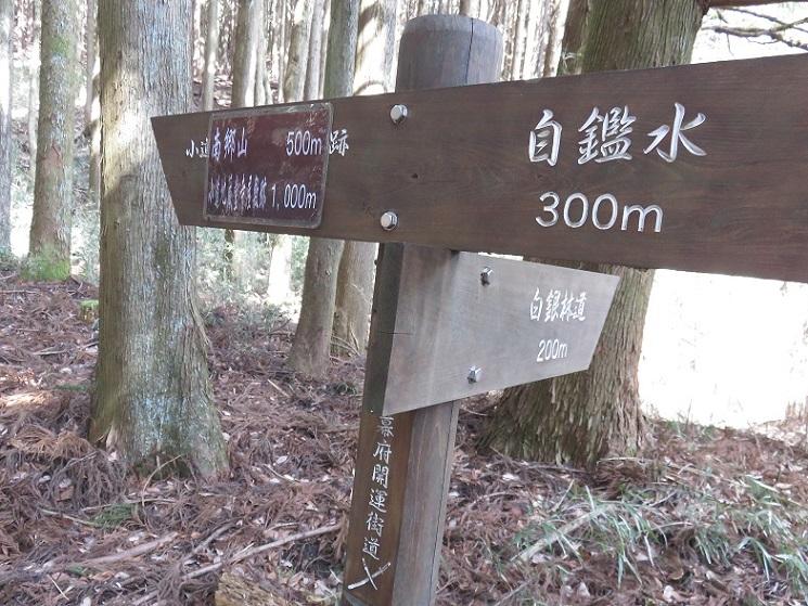 星ヶ山の手前小道地蔵堂寺屋敷跡を目指す