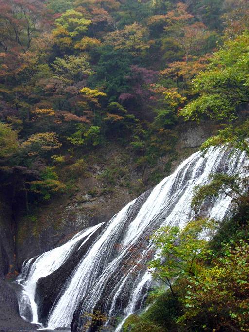 袋田の滝を下から見た