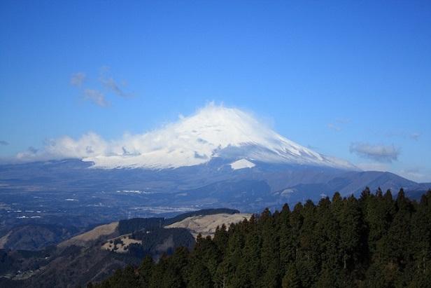 高松山は、富士山の展望が最高の山頂