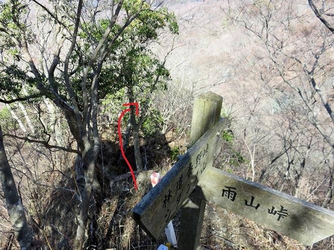 秦野峠から檜岳までは結構な急坂