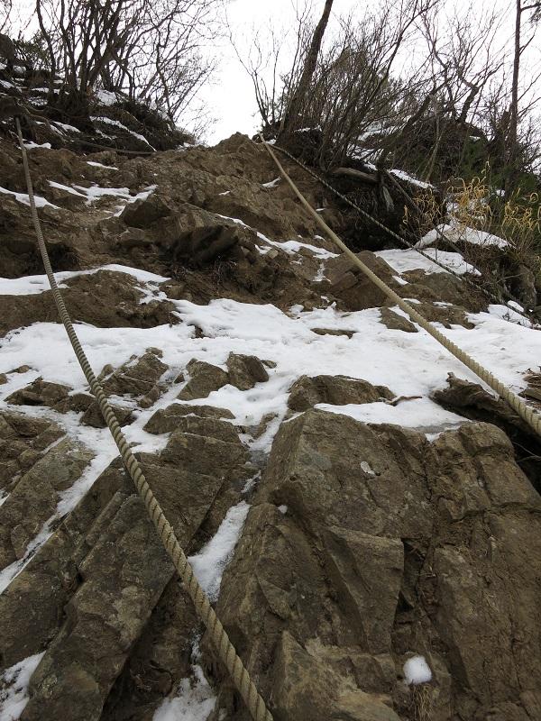 十二ヶ岳から金山方面強烈な荒縄