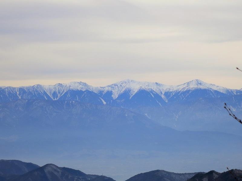 黒岳から見る南アルプスの景色