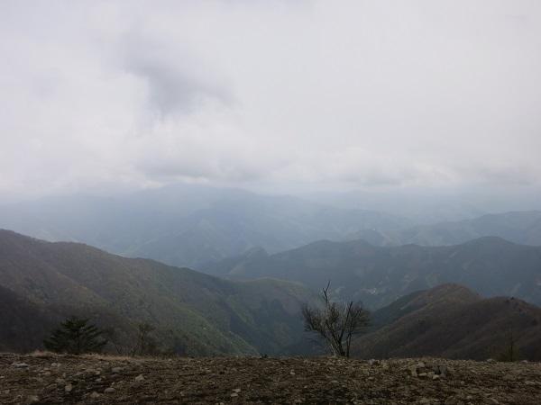 鷹ノ巣山から三頭山方面