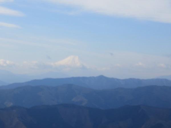 大岳山の山頂から富士山景色