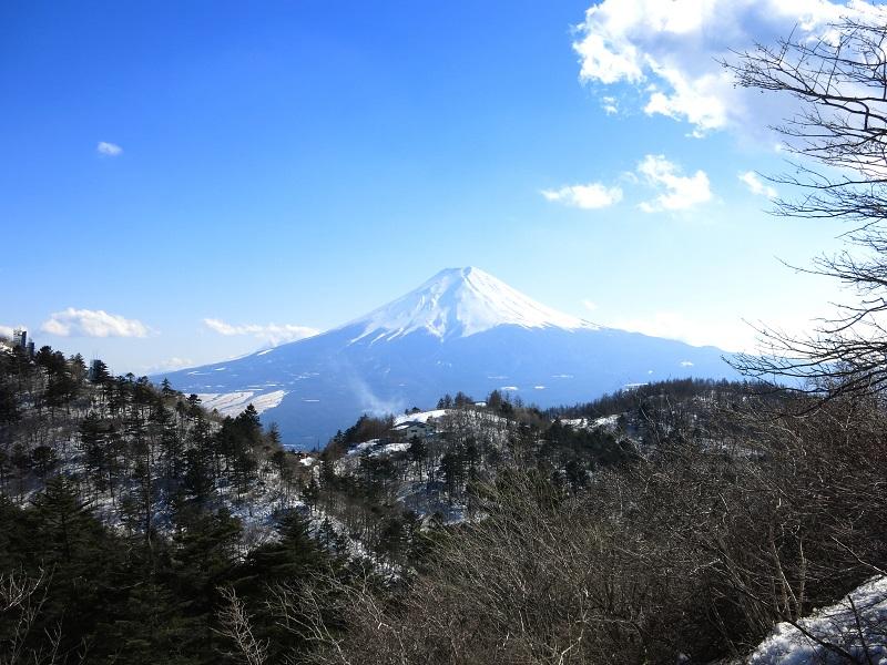 三ツ峠山から見る富士山景色