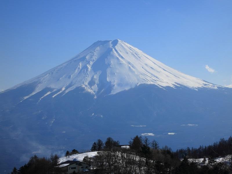 三ツ峠山開運山から見る富士山