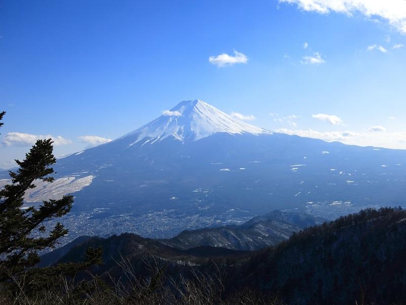 三ツ峠最高峰開運山の様子