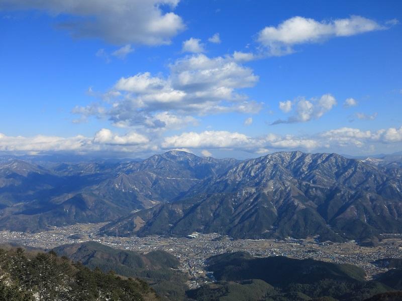 三ツ峠山から見る下界の景色