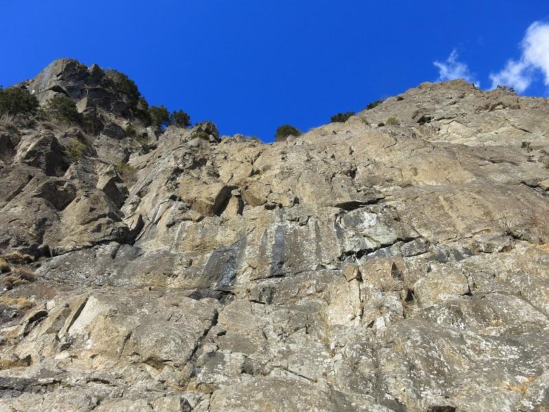 屏風岩の迫力