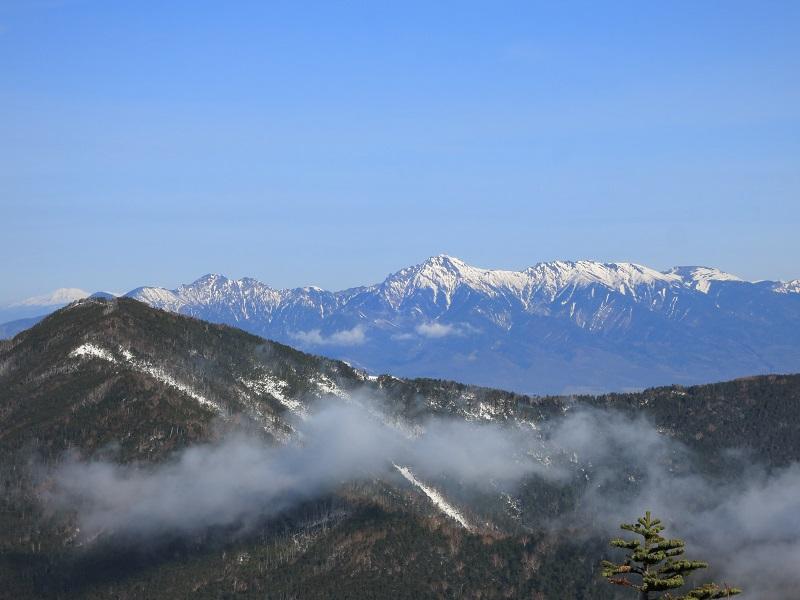 北奥千丈岳・国師ヶ岳周辺の景色