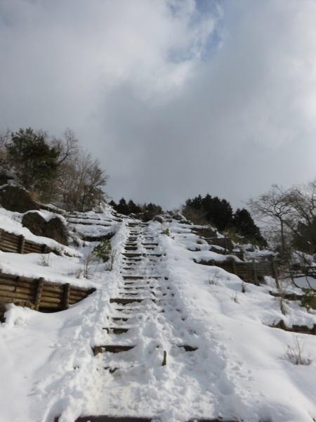 花立山荘・塔ノ岳に近づく