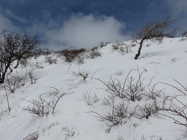 大雪で全く進みません不動ノ峰