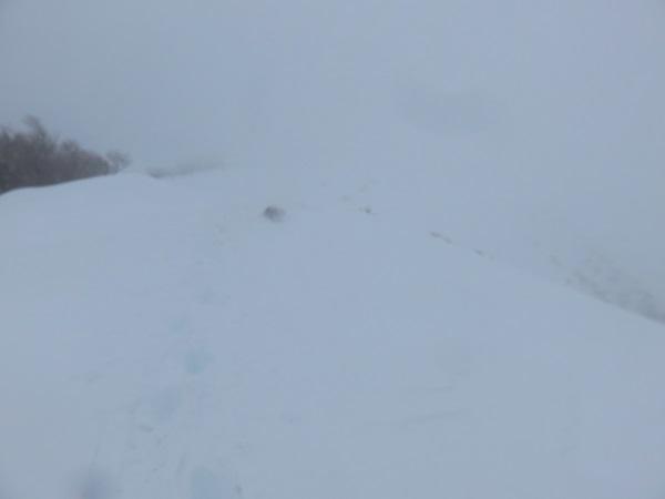 天候が悪化して本格的なホワイトアウト登山