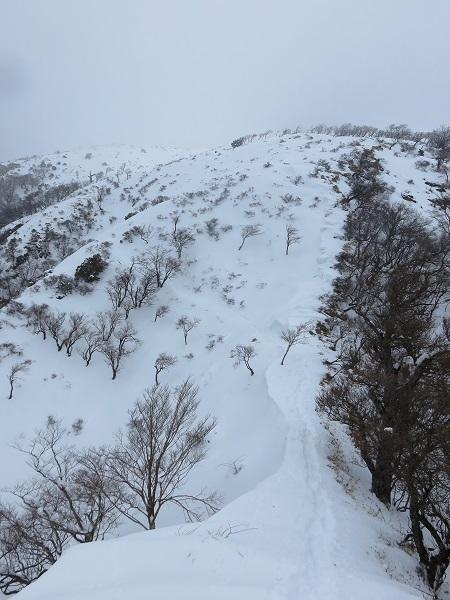 丹沢山への登り返し