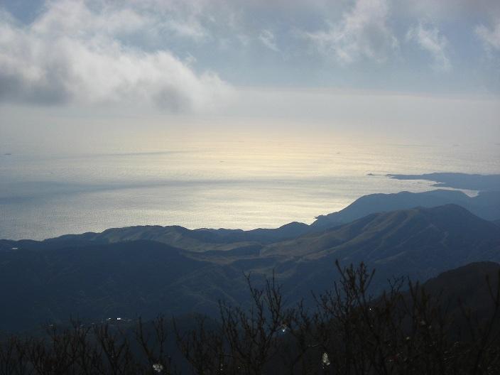 天城山の万三郎岳からの相模湾・駿河湾の景色