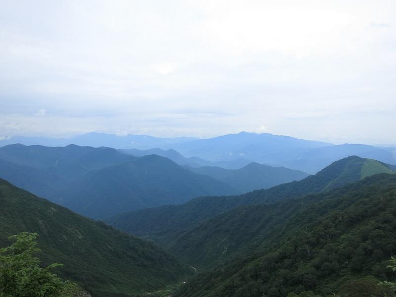 谷川岳西黒尾根景色