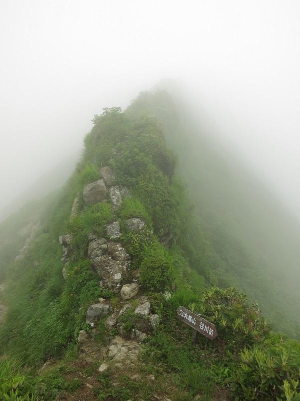 谷川連峰主脈縦路は前半(谷川岳)に悪路