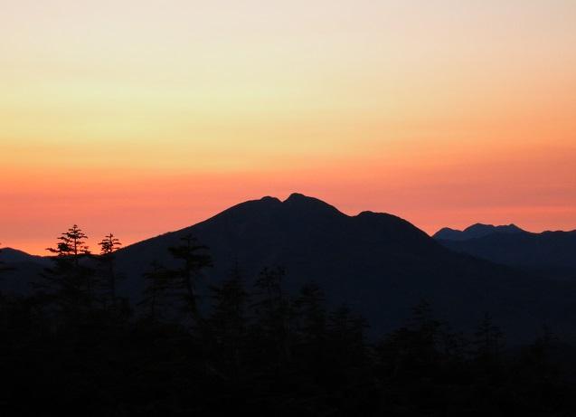 モルゲンロートの燧ヶ岳