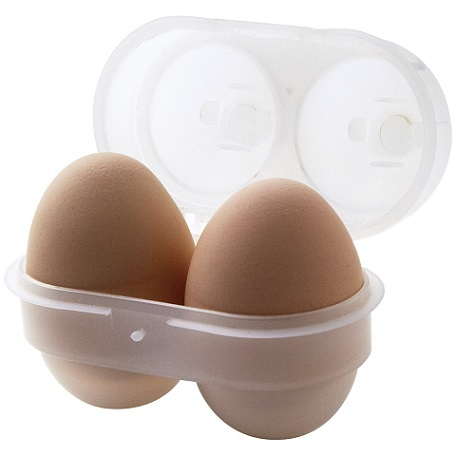エッグホルダーに卵をセット