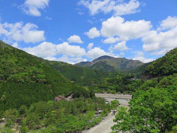 谷瀬の吊橋付近の写真