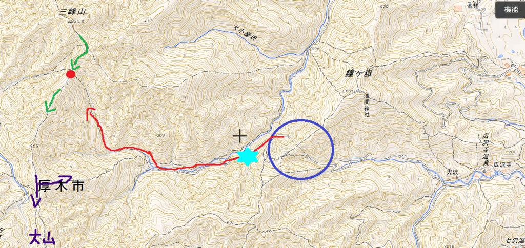 登山中の怪奇現象の場所とルート