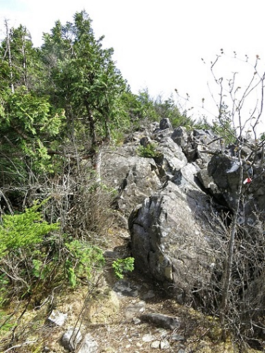 乾徳山岩稜歩き