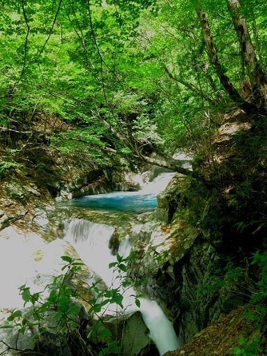西沢渓谷三重の滝