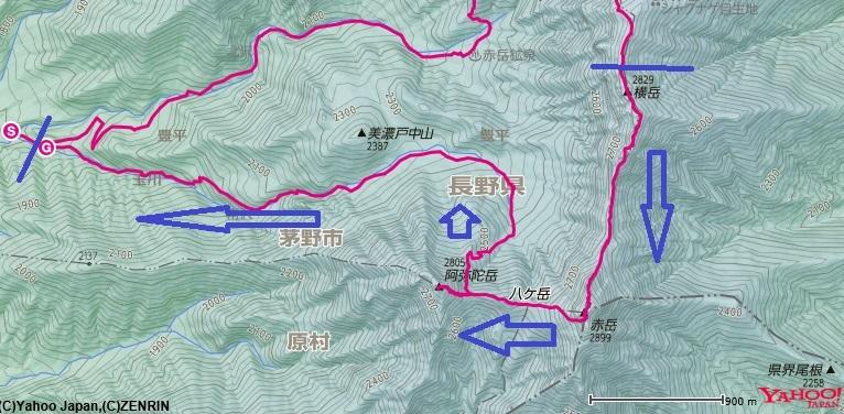 横岳~赤岳~阿弥陀岳の区間