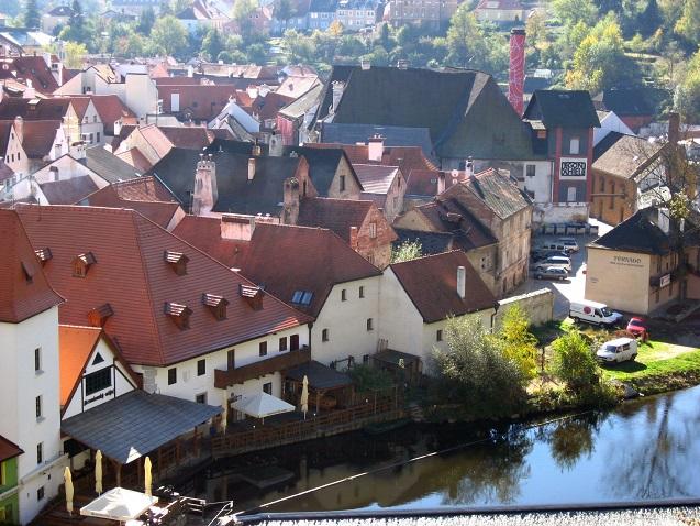 チェコの町並みと古城