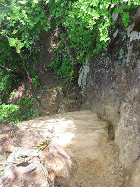 曲岳登山コース急降下