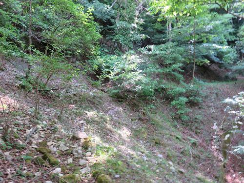 林道が終了この先踏み跡もなくなりバリエーションルート