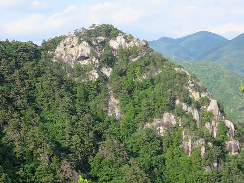 羅漢寺山弥三郎岳景色