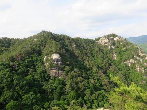 羅漢寺山の景色は最高