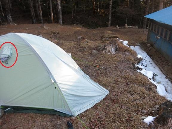 テントの換気口(ベンチレーター)