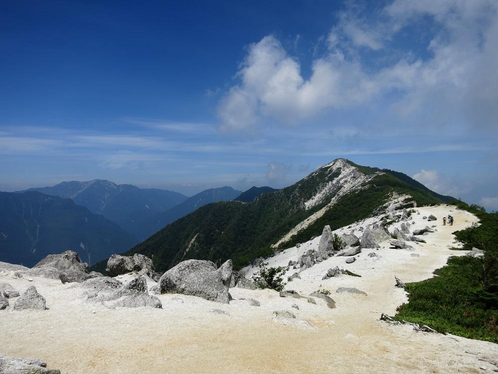 南アルプス鳳凰三山・甲斐駒ヶ岳・仙丈ヶ岳・北岳・間ノ岳・農鳥岳の景色