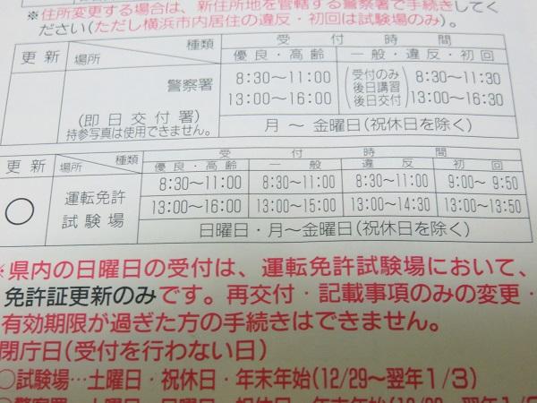 神奈川県警察運転免許センターの定休日休館日