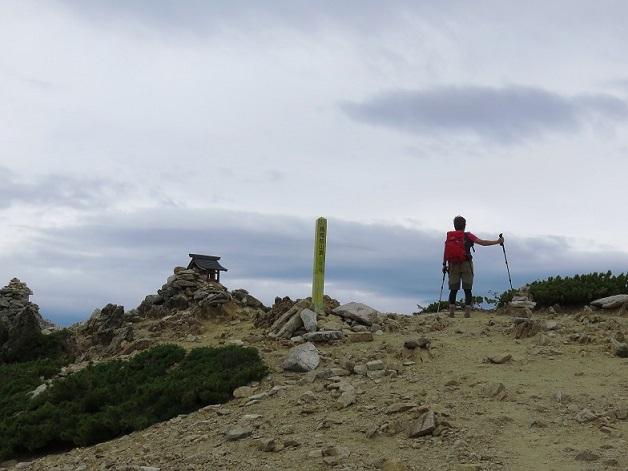 餓鬼岳山頂