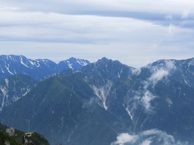 北アルプス連峰の展望台